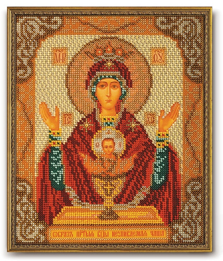 Набор икона из бисера Богородица Неупиваемая чаша