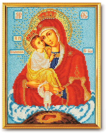 Набор икона из бисера Богородица Почаевская