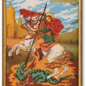 Набор икона из бисера Георгий Победоносец