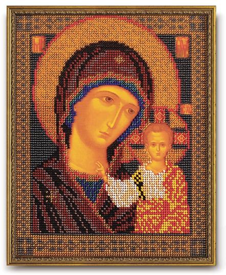 Набор икона из бисера Казанская Богородица