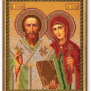 Набор икона из бисера Св. Киприан и Устиния