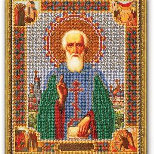 Набор икона из бисера Прп. Сергий Радонежский