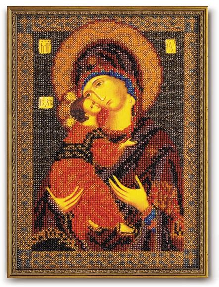 Набор икона из бисера Владимирская Богородица