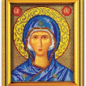 Набор икона из ювелирного бисера Божья Матерь