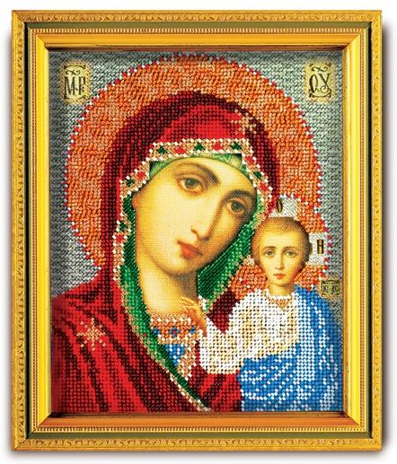 Набор икона из ювелирного бисера Казанская Богородица