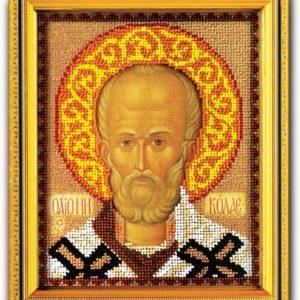 Набор икона из ювелирного бисера Николай Чудотворец