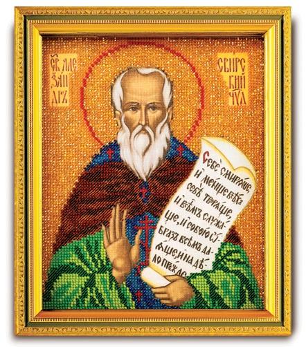 Набор икона из ювелирного бисера Св. Александр Свирский