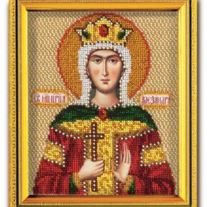 Набор икона из ювелирного бисера Св. Царица Александра