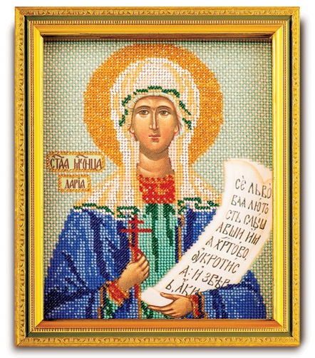Набор икона из ювелирного бисера Св. Дарья