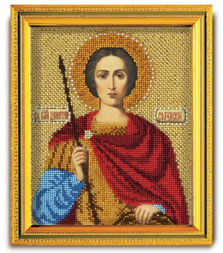 Набор икона из ювелирного бисера Св. Дмитрий Солунский