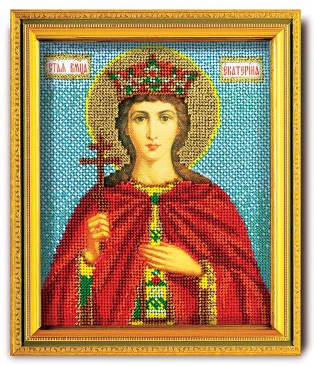 Набор икона из ювелирного бисера Св. Екатерина