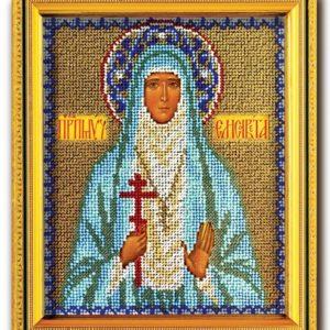Набор икона из ювелирного бисера Св. Елизавета