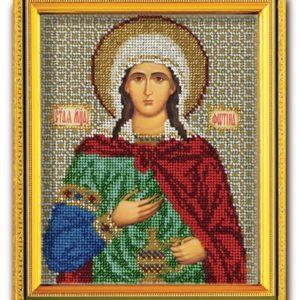 Набор икона из ювелирного бисера Св. Фотина (Светлана)