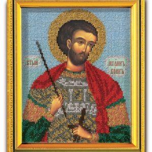 Набор икона из ювелирного бисера Св. Иоан Воин