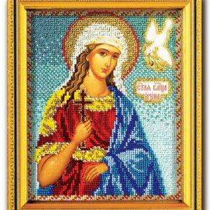 Набор икона из ювелирного бисера Св. Ирина