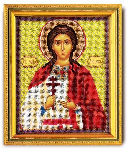 Набор икона из ювелирного бисера Св. Любовь