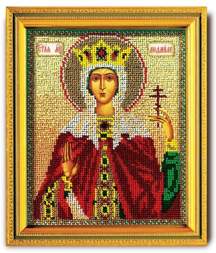 Набор икона из ювелирного бисера Св. Людмила