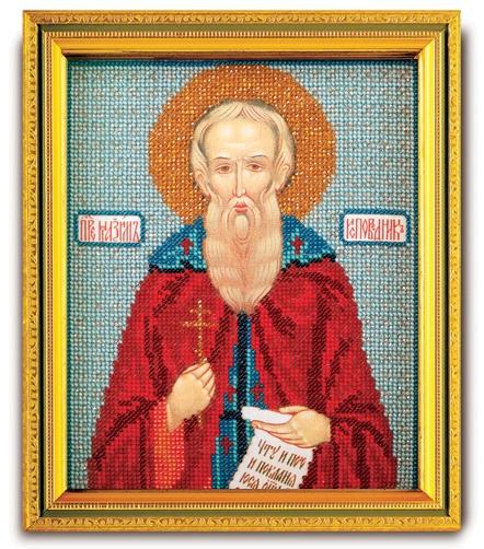 Набор икона из ювелирного бисера Св. Максим