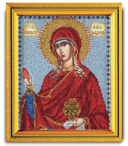 Набор икона из ювелирного бисера Св. Мироносица Мария Магдалина