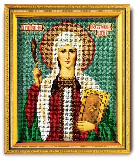 Набор икона из ювелирного бисера Св. Равноапостольная Нина