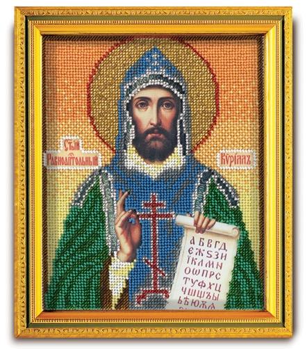 Набор икона из ювелирного бисера Св. Равноапостольный Кирилл