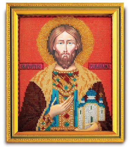 Набор икона из ювелирного бисера Св. Роман