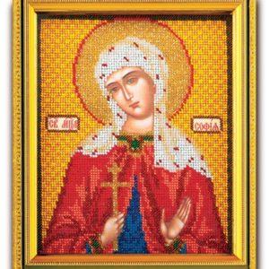 Набор икона из ювелирного бисера Св. Софья