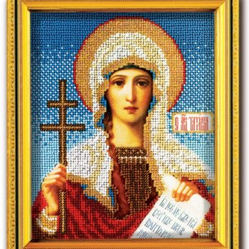 Набор икона из ювелирного бисера Св. Татьяна