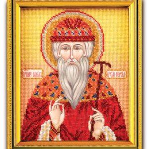 Набор икона из ювелирного бисера Св. Вадим