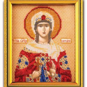 Набор икона из ювелирного бисера Св. Варвара