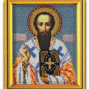 Набор икона из ювелирного бисера Св. Василий Великий
