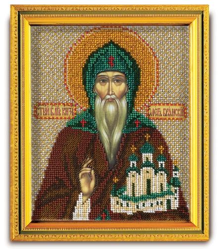 Набор икона из ювелирного бисера Св. Великий Князь Олег