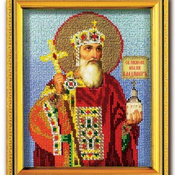 Набор икона из ювелирного бисера Св. Владимир Князь Киевский