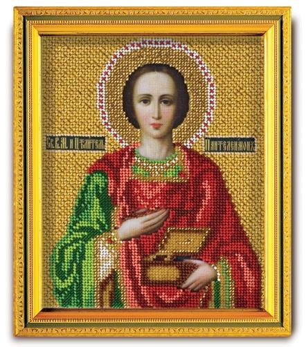 Набор икона из ювелирного бисера Св. Вм. Пантелеимон