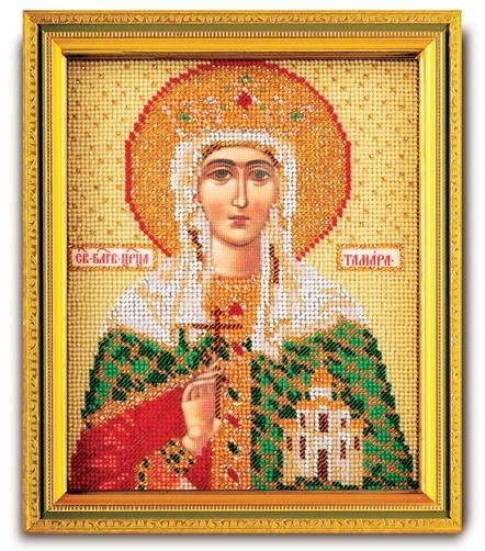 Набор икона из ювелирного бисера Св. Тамара