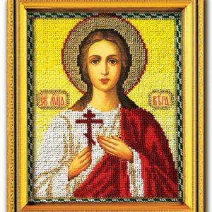 Набор икона из ювелирного бисера Св. Вера