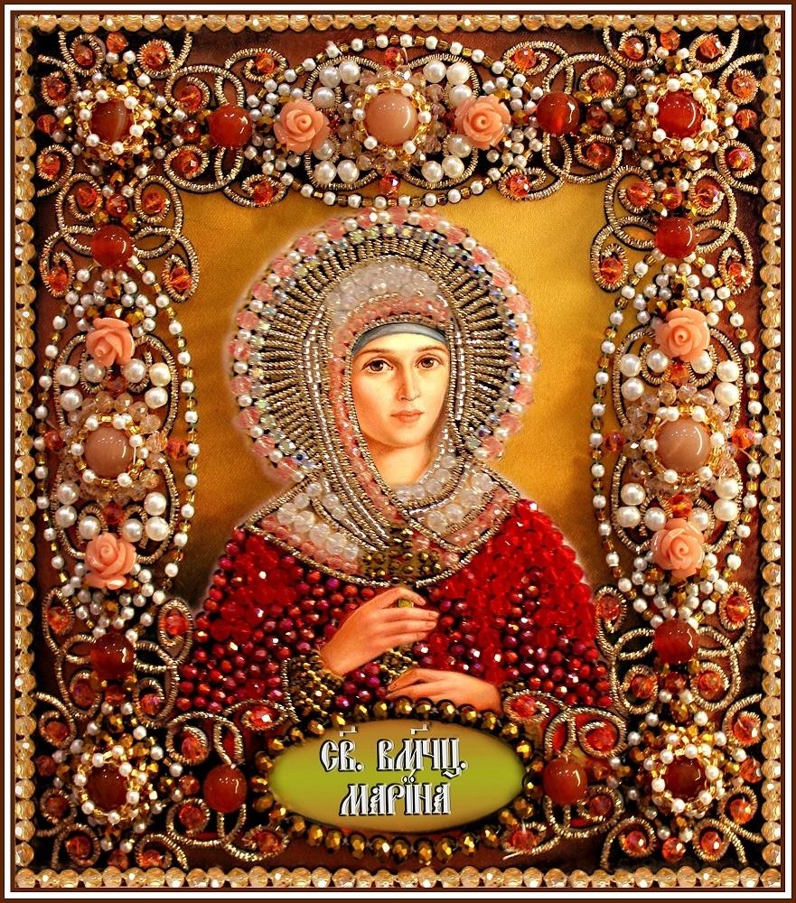 Образа в каменьях икона Святая Марина арт. 77-и-68