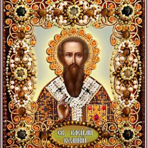 Образа в каменьях икона Святой Василий арт. 77-И-72