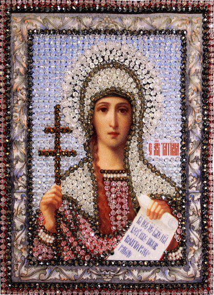 Образа в каменьях икона Святая Татьяна арт. 7706