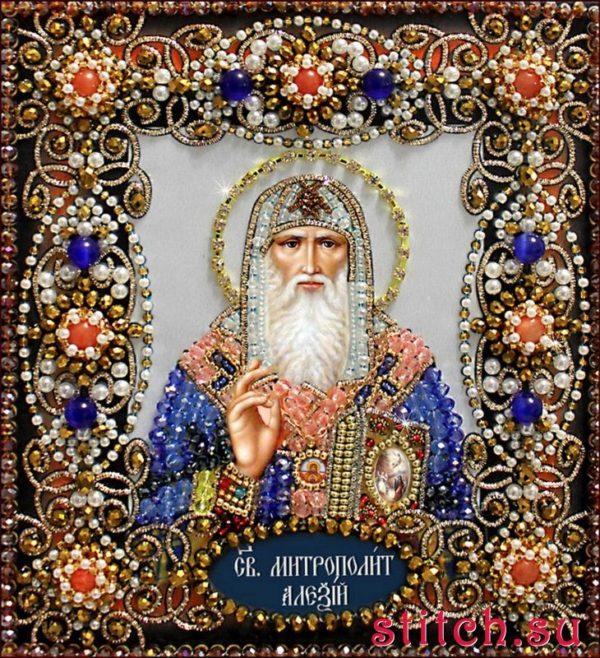 Образа в каменьях икона Святой Алексий арт. 77-и-31
