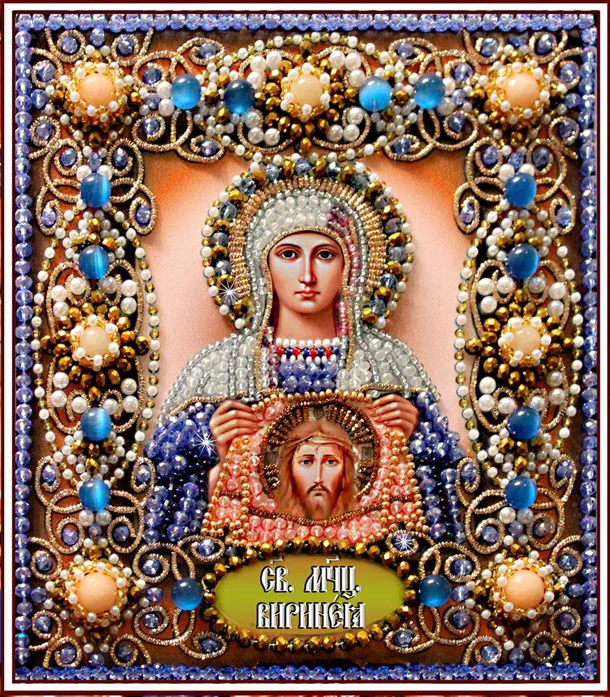 Образа в каменьях икона Святая Вероника арт. 77-и-59