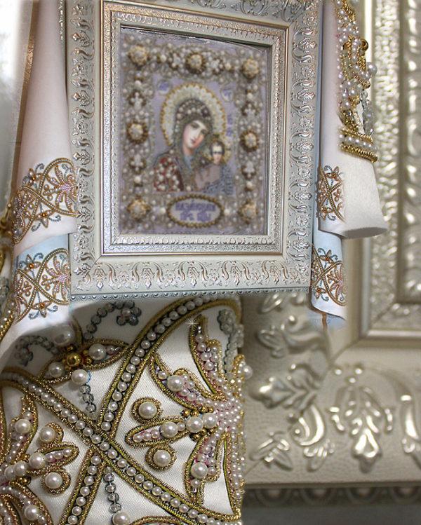 Образа в каменьях Рушник венчальный большой 50х220см арт. 77-Р-04