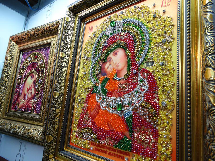 Хрустальные грани Образ Владимирской Богородицы арт. И6