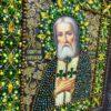 Хрустальные грани Образ Святого Серафима Саровского арт. И11