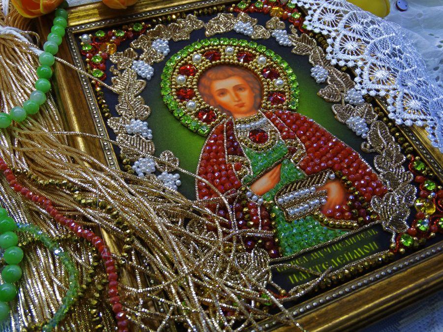 Хрустальные грани Образ Святого Целителя Пантелеймона арт. И9