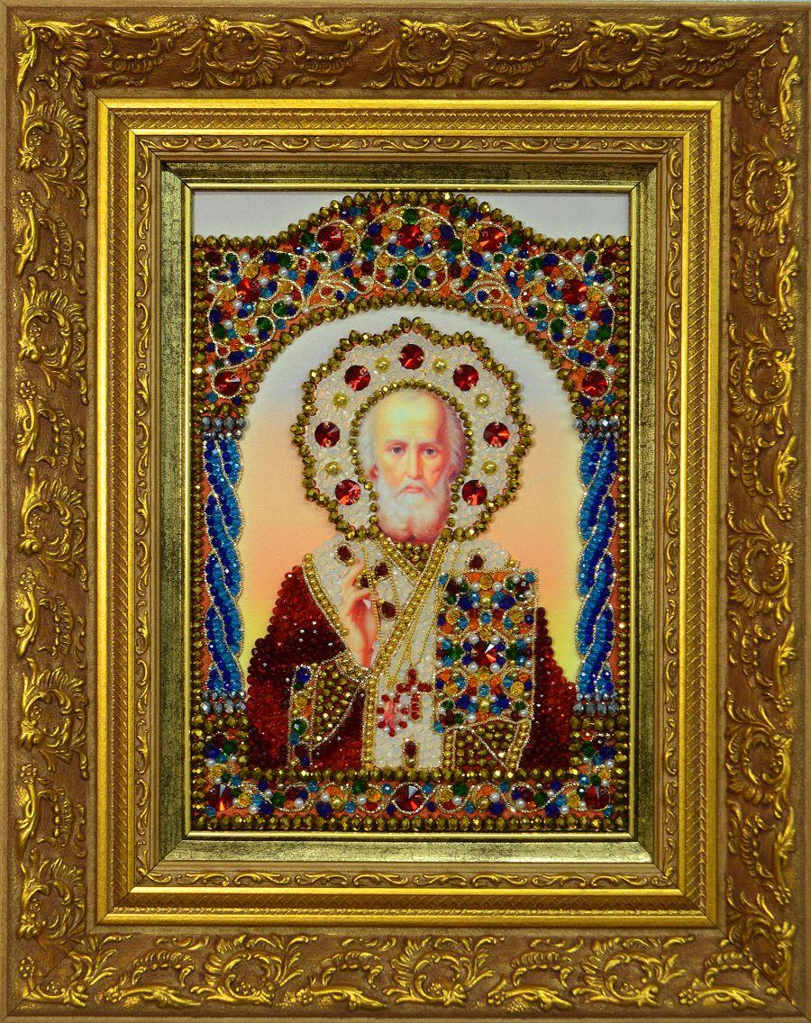 Хрустальные грани Образ Святого Николая Чудотворца арт. И4