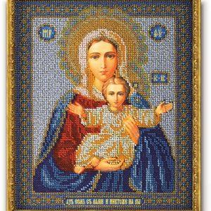 Набор икона из бисера Богородица Леушинская