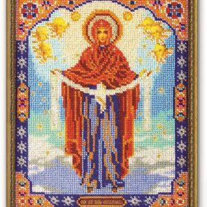 Набор икона из бисера Богородица Покрова