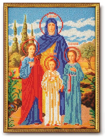 Набор икона из бисера Вера, Надежда и Любовь