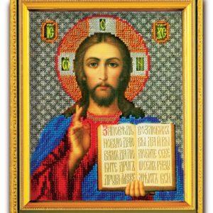 Набор икона из ювелирного бисера Спаситель